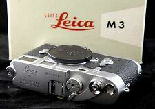 Leica M3 Camera Body Near Mint Boxed. Stunning Example