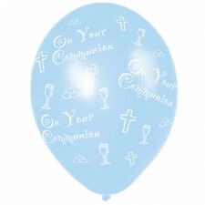 6 x COMMUNION Blue Balloons decorations Boys Balloons Helium or Air fill FREE PP