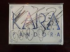 KARA *Pandora* RARE PROMO New Sealed Signed Autographed Cd Album K Pop 2NE1 SNSD