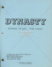 JOAN COLLINS - Original Vintage DYNASTY Script  'The Voice' 1984  [C12-005]