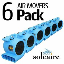 Air Mover Blower 115V Soleaire® Max Storm 2550 CFM 6 Pack Blue