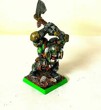 WARHAMMER ORCS AND GOBLINS  BLACK ORKS WARBOSS HERO  PRO PAINTED