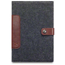 Charcoal/Brown Cavalry Felt & Leather Wallet for iPad Mini - C by Covert