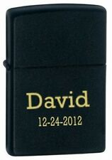 Personalized Matt Black Zippo Lighter - Fee Laser Engraving