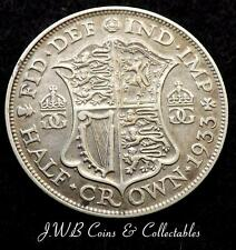 1933 George V .500 Silver Half-Crown Coin - Great Britain,