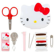 NEW Sanrio Hello Kitty Face-shaped case containing sewing kit Kawaii F/S