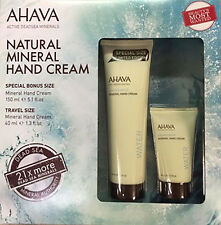 Ahava Natural Mineral Hand Cream with Active Deadsea Minerals 5.1 OZ. + 1.3 OZ.