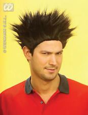 Black Spikey Dennis The Mennace Wig School Boy Spiked Hair Fancy Dress