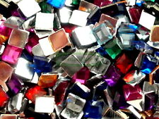 4mm Square Assorted Colour Acrylic Jewels - 400 Pack (Gems, Rhinestones)