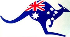 AUSTRALIA FLAG KANGAROO - FULL COLOUR PLACEMENT  -  CAR DECALS - STICKER **