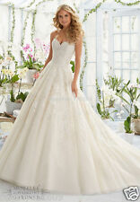 New white ivory Wedding dress lace Bridal Gown custom size 4 6 8 10 12 14 16 18