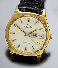 Vintage Mathey Tissot Day/Date Automatic Wind Wrist Watch CA1970s