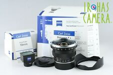 Carl Zeiss Distagon T* 18mm F/4 ZM Lens + 18mm Viewfinder With Box #9254F2