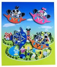 2014 Disney Flying UFO Booster Pack Set of 4 Pins N9