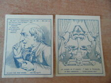 2 x CHROMO BON-POINT ECOLE IMAGE SCOLAIRE Objets et personnages cachés 1885