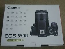CANON 650D 18-55KIT, BOX ONLY, NO CAMERA