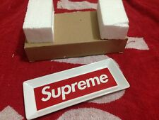 SUPREME 2014 F/W CDG BOX LOGO CERAMIC ASHTRAY KEY WATCH TRAY WHITE RED PCL