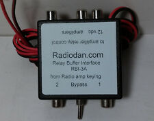 Amplifier keying relay buffer interface TWO radios and 3 linear switching RBI-3a