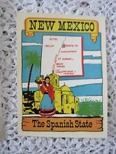 "Luggage Sticker Travel New Mexico 4""x3"" Original Vintage"