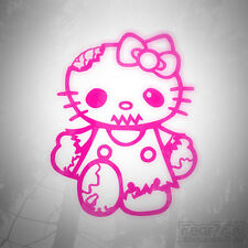 HELLO KITTY ZOMBIE DIVERTENTE Auto Furgone Decalcomania Finestra Adesivo JDM euro Polo CORSA ABARTH