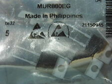 Lot de 5 - diode MUR 880 EG / MUR880EG in one bag antistatic DO220