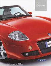 FIAT BARCHETTA prospetto 6/03 auto prospetto opuscolo Car Brochure 2003 AUTO AUTOMOBILI