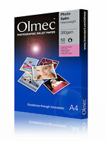 2 x Olmec 260gsm Photo Satin Inkjet Paper A4/50 Sheets OLM61A4 - 100 sheets A4
