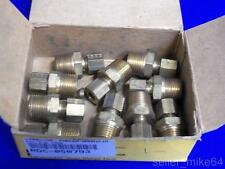 PARKER 68C-4-6 1/4X3/8 MALE CONNECTOR COMPRESSION FITTING, LOT OF 10, NEW