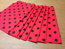 Polka Dot FABRIC BOTH SIDES Camper Van Curtains,13 Cols,VW T2,Blackout/Magnets
