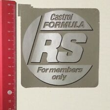 Aufkleber/Sticker: Castrol Formula RS - For Members Only (02041682)