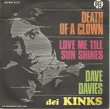 DAVE DAVIES (KINKS) Death Of A Clown ITALIAN picture sleeve on Pye  !! BEAT !