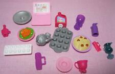 2007 GLAM BARBIE DOLL Vacation BEACH Dream HOUSE Replace Snap Clip On Dishes lot