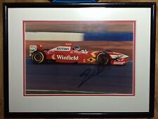 Jacques VILLENEUVE Hand Signed Framed Photo And COA