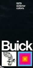 1979 Buick Exterior Paint Color Guide Brochure - Riviera Regal Electra LeSabre