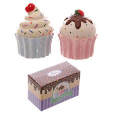 NEW AND BOXED CUP CAKE SALT AND PEPPER SET, GIFT IDEA