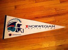 vintage souvenir pennant Norwegian Cruise Line Official NFL Football Players old