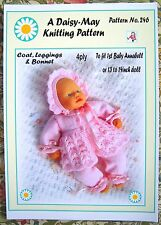 DOLLS KNITTING PATTERN to fit 1st Baby Annabell Doll 13 /14ins No 246 Val Young