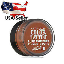 MAYBELLINE -  #35 BREAKING BRONZE -  COLOR TATTOO PURE PIGMENTS EYE SHADOW