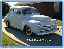 1947 Ford Coupe Auto Refrigerator / Tool Box  Magnet Man Cave Gift Card Item