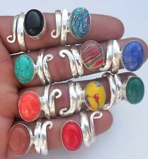 FANTASTIC & MIX JEWELRY WHOLESALE LOT 10PCS 925 STERLING SILVER OVERLAY! RING