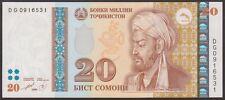 TWN - TAJIKISTAN 17a - 20 Somoni 1999 UNC Prefix DG