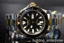 Mens Invicta Ocean Ghost Signature Diver Automatic  NH35A 2 Tone Gold Watch New