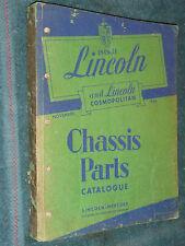 1949-1951 LINCOLN CHASSIS PARTS CATALOG ORIGINAL BOOK PRINTED NOVEMBER 1950