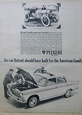 PEUGEOT 404 FRENCH CAR AUTO ADVERT APRIL 1963 NY TIMES INDIANAPOLIS WINNER 1913