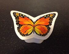 Vintage Retired Telefonica Monarch Butterfly Porcelain Trinket Jewelry Box