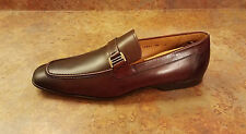 New! Magnanni 'Lino' Burgundy Leather Loafers Mens Size 10 M MSRP $295