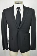 40R New Calvin Klein Mens Black Wool EXTRA SLIM FIT 2pc Suit 34X30 $600