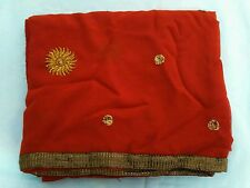 Ladies Saree for Women with Embroidery Faux Chiffon Sari Gift Indian Ethnic Wear