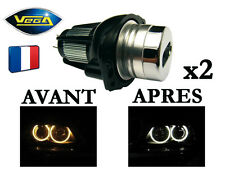 2 Angel Eyes Vega® LED 6W Bridgelux Xénon BMW E90 E91 avant 2008