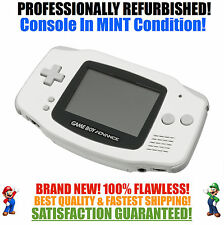 *NEW GLASS SCREEN* Nintendo Game Boy Advance GBA White System MINT NEW